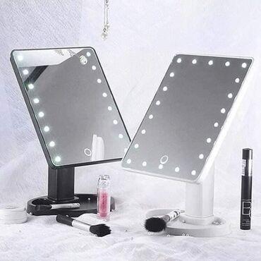Ostalo - Nis: Ogldalo sa LED lampicama Moze se rotirati Idealno za bolji pregled pri