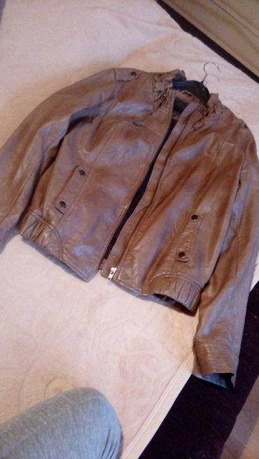 Braon kozna jaknica ,velicina l - Vrbas