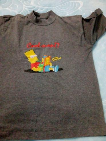 Majica-decija - Srbija: Decija majica siva obim kragne 36Duzina majice 54 kratak rukav unutar