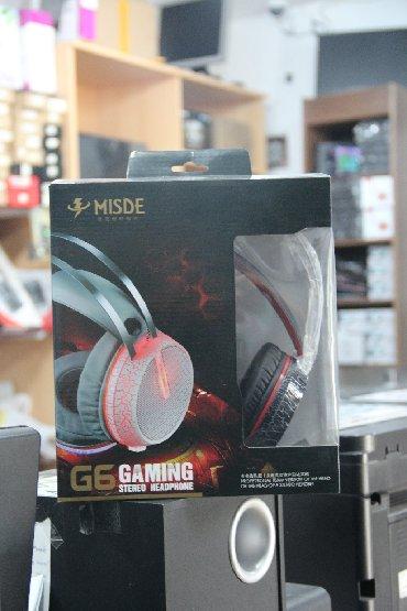 Model: Misde G6 Gaming HeadsetQoşulma: USB/3.5mm jack (işıqlı)Mağazada