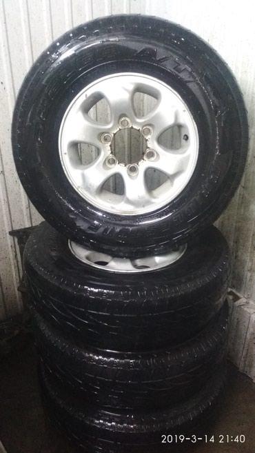 Продаю колёса на джипа R15 225/80 комплект среднего состояния в Сокулук