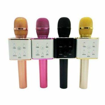 Mikrofoni   Srbija: Blutut mikrofon Q7 sa intengrisanim zvucnikom za karaoke.Mozete se