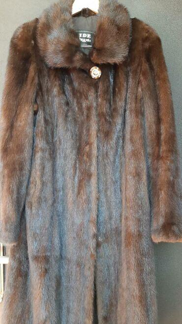 Шуба норка размер 50-52 цвет коричневый не крашенная