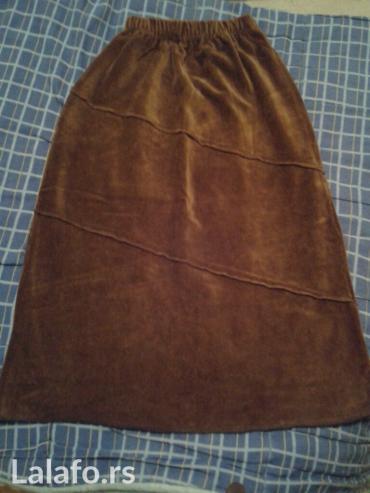 Braon somot suknja,vel l-xl in Novi Sad