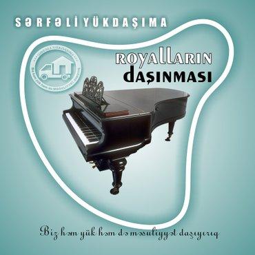 Bakı şəhərində İri ölçülü musiqi alətlərin (royal, pianino, arfa, kontrabas və s.)