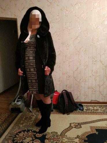 Продаю шубу норковая чёрный бриллиант в Бишкек