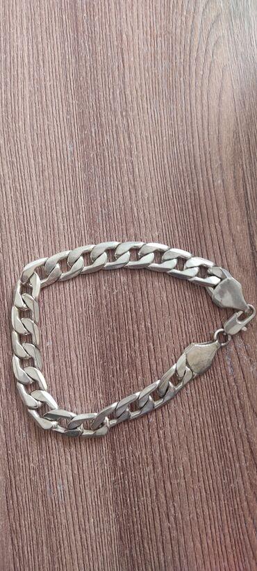 Серебряная цепочка на руку толстая тяжолая новая один раз одели и всё