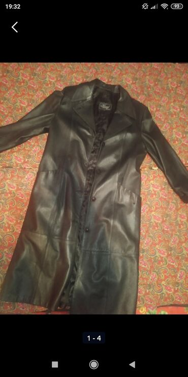 Личные вещи - Арчалы: Продаю кожаную длиннную куртку(плащ весна/осень)За 4000 Уступка будет