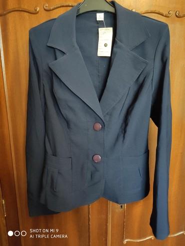 синий пиджак женский в Кыргызстан: Продается женский пиджак,размер 44, производство Кыргызстан.Цвет