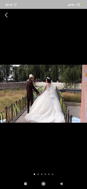 Свадебные платья - Кок-Ой: Сдаю на прокат свадебный платье цвет айвори, размер регулируется
