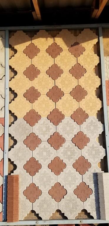 вязаное платье с орнаментом в Кыргызстан: Евро орнамент#Евро Брусчаткасерый+коричневый 460сом/м2сары