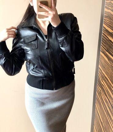 Кожаная чёрная куртка в идеальном состоянии (натуральная кожа! Ее