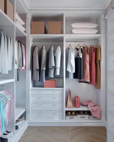 Дизайн гардеробной комнаты в Бишкек