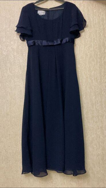 вечернее платье синий цвет в Кыргызстан: Продается качественное платье синего цвета!Размер 44-46Цена: 1500 сом