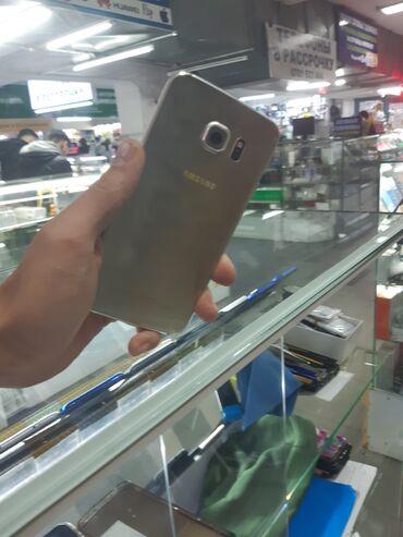 Samsung a 3 - Кыргызстан: Б/у Samsung Galaxy S6 Edge 32 ГБ Желтый