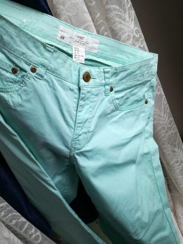 H&M nove ženske pantalone,tanke letnje,uske,svetlo zelena lepa - Belgrade