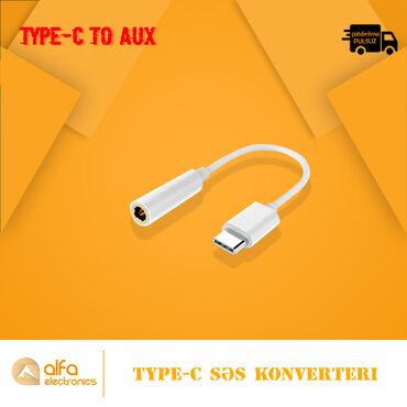 Type-C səs çıxışlı telefon və qurğuları Aux 3.5 m-ə çevirmək üçün