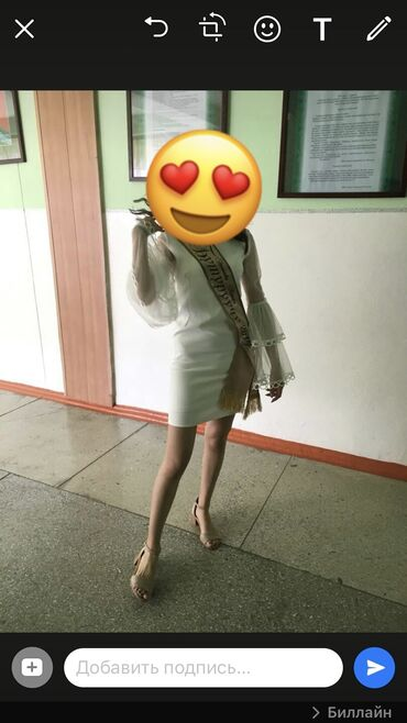 botilony na kabluke в Кыргызстан: Продаётся платье белого цвета. Размер 44
