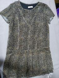 платье из шифона в Кыргызстан: MANGO туника из шифона, красивая, можно как платье мини. Размер S