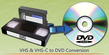 Bakı şəhərində Video ve audio kasetlerin diske,flas karta