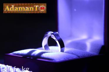"""Кольцо из титана с бриллиантом, модель """"Atom"""" в Бишкек"""