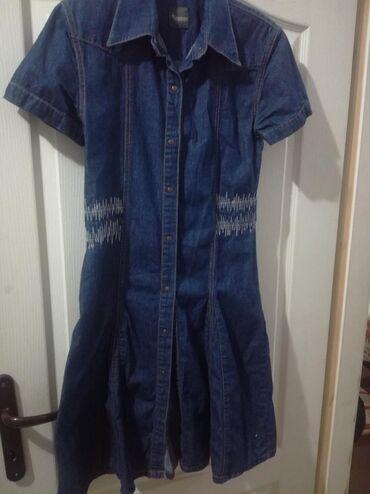 Haljina st - Srbija: Markirana teksas haljina vel XL 100% cotton