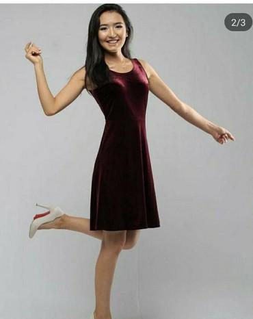Продаю платье бордогового цвета ,размер 42/44/46. Состояние хорошее в Бишкек