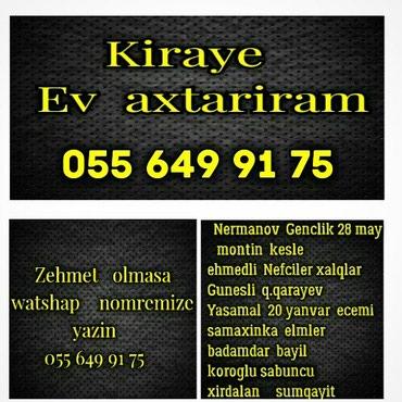 Bakı şəhərində Emlak house ev alqi satqi kirayesi maklerle 50/50 islemek teklifi