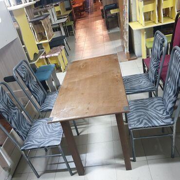 Стол стуля 5 комплект сталы деревянные все одинаковые для дома и для