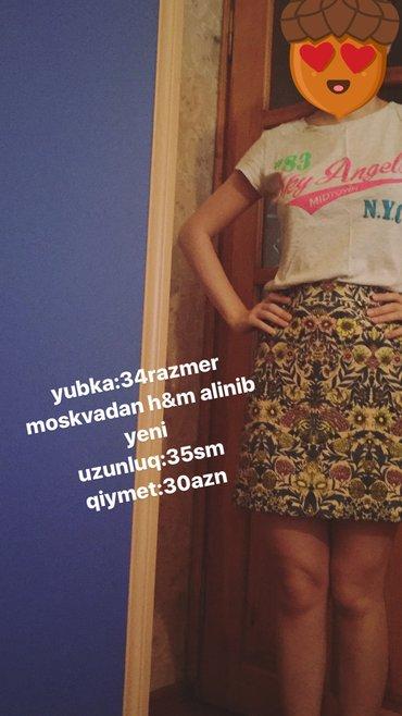 Bakı şəhərində Qisa yubka moskvadan alinib yeni