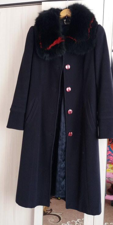 Зимнее пальто с воротником.46р в Бишкек