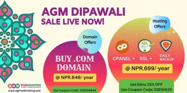 Get Best  Diwali Festive Offer On Hosting And Domains In Nepal - At  in Kathmandu