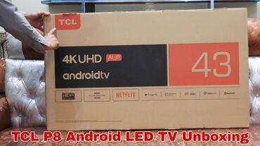 Телевизор TCL 43 4K, UHD.Android с голосовым поиском Wi fi smart