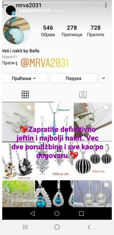 Ostali nakit - Srbija: Z A D O V O L J N I KUPCI,ZAPRATITE MOJ PROFIL,NAKIT I VEŠ PO SJAJNIM