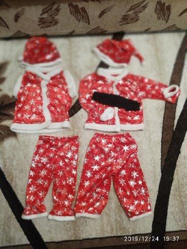 длинные вечерние платья с длинным рукавом в Кыргызстан: Продаю костюмчик Санта Клауса 2 штуки брали для близнецов, одевали оди