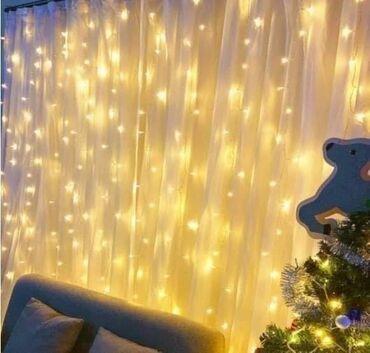 Novogodišnja LED zavesa3 x 3m 2300 din - bela, plava, RGB4 x 3m
