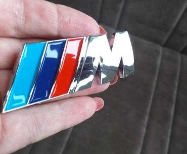 Tuning i styling oprema - Srbija: M BMW ZNAK METALNI SAMOLEPLJIVI 83 mm x 33 mmZnak M BMWDimenzije 83mm