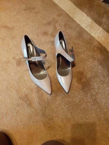 Sive,kozne cipele sa stabilnom stiklicom