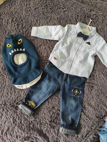 Продаю рубашку lc waikiki новая 500с на 9-12месДжинсы 300сом на 9-12