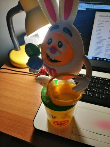 M&m's Yellow Easter Bunny for sale. Limited Edition. No candy