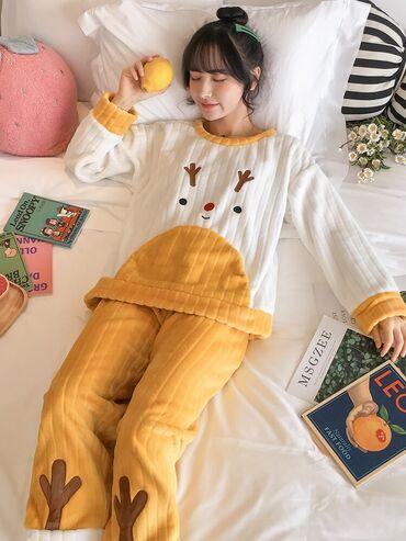 Нежная пижамка в корейском стиле из милого кораллового флиса🥰  Уютная