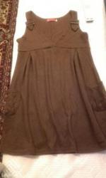 Braon haljina,60% vuna,lepa - Belgrade