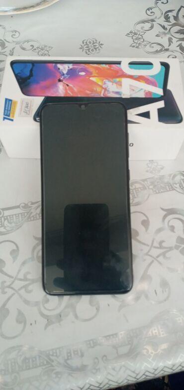 Электроника - Талас: Samsung A70 | 128 ГБ | Синий | Сенсорный, Отпечаток пальца, Две SIM карты