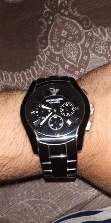 Qol saatları - Mingəçevir: Emperio Armani. Bahalı saatdır. Ucuz satılır. Dükanda 169 azn-dir