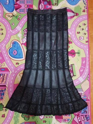 Kozna-suknja-m - Srbija: Kozna suknja sirene, kao nova sto se vidi, velicina S-M, crna