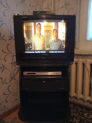 "dvd pleer samsung e360k в Кыргызстан: Продаю всё вместе! Ресивер+ телевизор ""Samsung"", DVD, цена без торга"