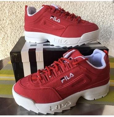 Ženska patike i atletske cipele - Pozega: Fila crvene patike 3300din 36- 40