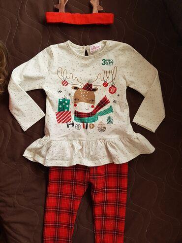 Dečija odeća i obuća - Prokuplje: Novogodisnji kompletic, NOV. Vel 92