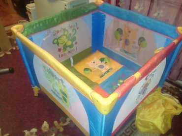 Dobro ocuvana ogradica za decu precnika 1m, pakovana u orginal torbu - Stara Pazova