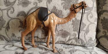 Кожаный сувенирный верблюд. Привезён из Дубай. Цена 700 сом